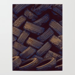 Tired tires Poster
