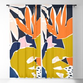 Modern flowers - design for a happy life Blackout Curtain