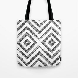 Grey Checkered Paattern Tote Bag