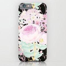 Flower Bouquet in Black Slim Case iPhone 6s