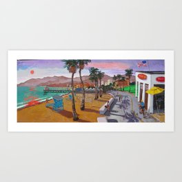 Santa Monica California Art Print