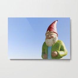Giant Garden Gnome Metal Print