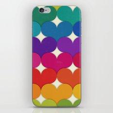 Rainbow Hearts iPhone & iPod Skin