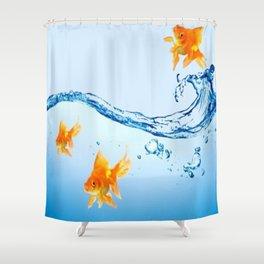 GOLDFISH AQUARIUM WATER ART Shower Curtain