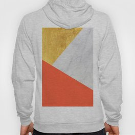 Carrara Marble with Gold and Pantone Flame Color Hoody