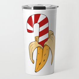 Banana candy cane christmas candy sweety kids gift idea Travel Mug