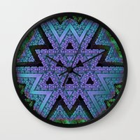 fabric Wall Clocks featuring Fabric by Lyle Hatch