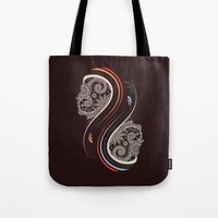 infinity Tote Bags featuring Infinity by Sedef Uzer