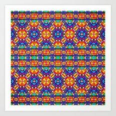 Huichol bracelet Art Print