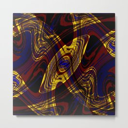 Red, Blue and Yellow Dance Party Metal Print