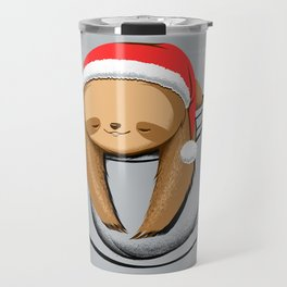 Sloth in a Pocket Xmas Travel Mug