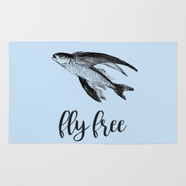 Fly Free Fish Rug