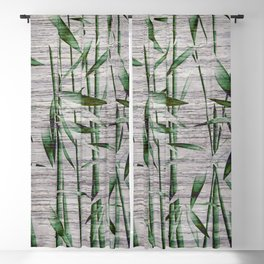 Winter Bamboo Leaves Blackout Curtain