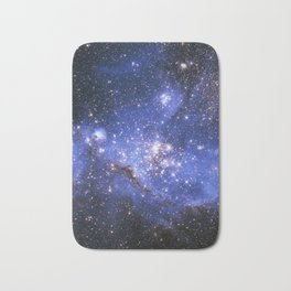 Blue Embrionic Stars Bath Mat