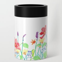 Floral Border - Jewel Colours Can Cooler