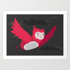 Amaranth night owl Art Print
