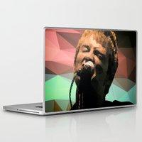 radiohead Laptop & iPad Skins featuring Thom Yorke | Radiohead | Creep | Polygon Art by Mirek Kodes