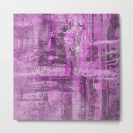 Abstract 15 - Study In Pink And Black Metal Print