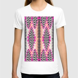 Tribal Beat Geo Magenta T-shirt