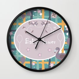 Baby Shower Wall Clock