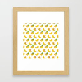 Monkeys and Bananas Framed Art Print
