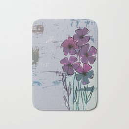 Meadow flowers lilac Bath Mat