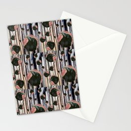 Raven rising against a pink sunset Stationery Cards