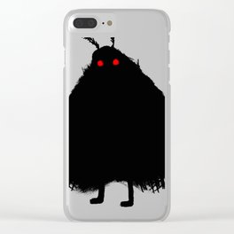 Your Fellow Friendly Cryptid: Mothman Clear iPhone Case