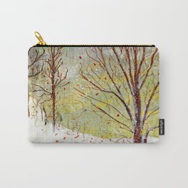 Spring Snow in Dewdrop Holler Carry-All Pouch