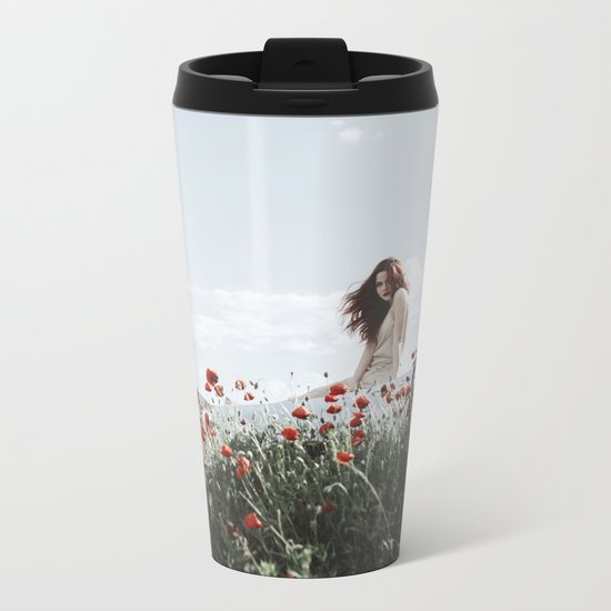 Poppy Metal Travel Mug