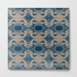Shades of Blue Abstract Metal Print