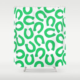 Retro Vintage St Patricks Day Green Luck Gift Decorations Shower Curtain