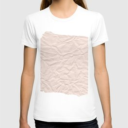 crumpled paper. Kraft paper T-shirt