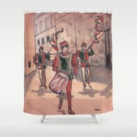drum Shower Curtains featuring Drum by Sarah Larguier