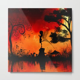 Cute little fairy Metal Print
