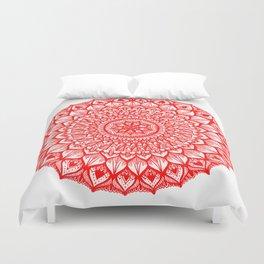 Sand Dollar-Red Duvet Cover