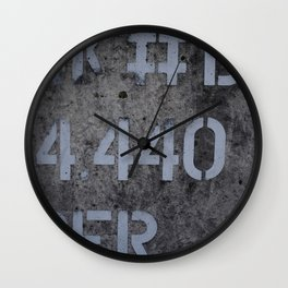Industrial Tank Sign Wall Clock