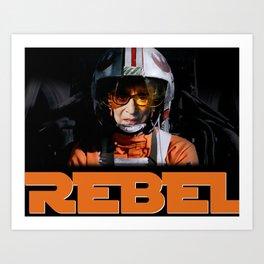 Rebel Bader Ginsburg Art Print