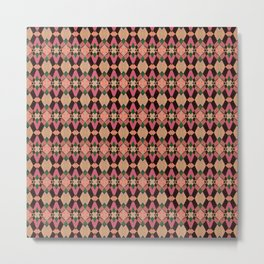 Abstract Delight Pattern Metal Print