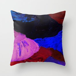 Abstract Feathers by Robert S. Lee Throw Pillow