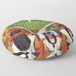Flower Festival No. 2 - Feast of Santa Anita by Diego Rivera Floor Pillow