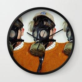 Masked Triplets Wall Clock