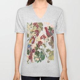 Parrots and Flora Unisex V-Neck