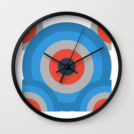 Colorful Abstract Geometric Symmetrical Circles Wall Clock