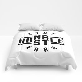 Stay Humble Hustle Hard v2 Comforters
