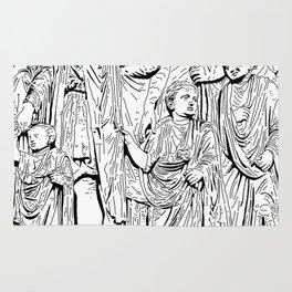 stencil frieze children Rug