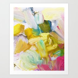 Lots of Feelings Abstract Painting Art Print