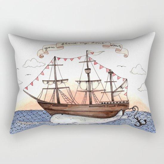 Float My Boat Rectangular Pillow