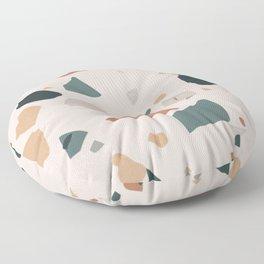 Terrazzo on earth Floor Pillow