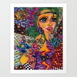I Have Never Seen a Greater Monster or Miracle Than Myself Art Print
